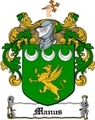 Thumbnail Manus Family Crest  Manus Coat of Arms
