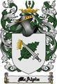 Thumbnail Mcalpin Family Crest  Mcalpin Coat of Arms Digital Download