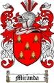 Thumbnail Miranda Family Crest  Miranda Coat of Arms Digital Download