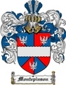Thumbnail Montepinson Family Crest  Montepinson Coat of Arms