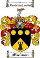 Thumbnail Munson Family Crest  Munson Coat of Arms
