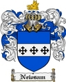 Thumbnail Newsam Family Crest  Newsam Coat of Arms