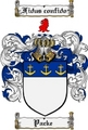 Thumbnail Packe Family Crest  Packe Coat of Arms