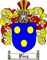Thumbnail Pacy Family Crest  Pacy Coat of Arms