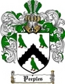Thumbnail Peeples Family Crest  Peeples Coat of Arms