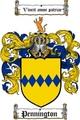 Thumbnail Pennington Family Crest  Pennington Coat of Arms Digital Download