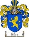 Thumbnail Pettit Family Crest  Pettit Coat of Arms
