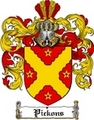 Thumbnail Pickons Family Crest  Pickons Coat of Arms