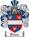 Thumbnail Pinson Family Crest  Pinson Coat of Arms