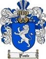 Thumbnail Poste Family Crest  Poste Coat of Arms
