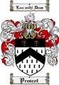 Thumbnail Prescot Family Crest  Prescot Coat of Arms