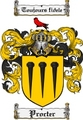 Thumbnail Procter Family Crest  Procter Coat of Arms