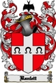 Thumbnail Ranlett Family Crest  Ranlett Coat of Arms Digital Download
