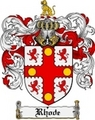 Thumbnail Rhode Family Crest  Rhode Coat of Arms
