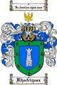 Thumbnail Rhodriquez Family Crest  Rhodriquez Coat of Arms