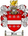 Thumbnail Rick Family Crest  Rick Coat of Arms