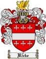 Thumbnail Ricke Family Crest  Ricke Coat of Arms