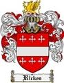 Thumbnail Rickes Family Crest  Rickes Coat of Arms
