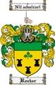 Thumbnail Rocker Family Crest  Rocker Coat of Arms