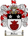 Thumbnail Saban Family Crest  Saban Coat of Arms