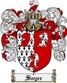 Thumbnail Sayer Family Crest  Sayer Coat of Arms