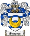 Thumbnail Semones Family Crest  Semones Coat of Arms