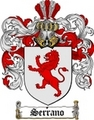Thumbnail Serrano Family Crest  Serrano Coat of Arms Digital Download