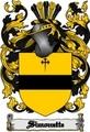 Thumbnail Simonette Family Crest  Simonette Coat of Arms Digital Download