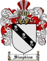 Thumbnail Simpkins Family Crest  Simpkins Coat of Arms