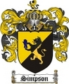 Thumbnail Simpson Family Crest / Simpson Coat of Arms