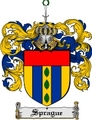 Thumbnail Sprague Family Crest  Sprague Coat of Arms Digital Download