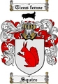 Thumbnail Squire Family Crest  Squire Coat of Arms