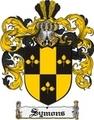 Thumbnail Symons Family Crest  Symons Coat of Arms