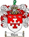 Thumbnail Thick Family Crest  Thick Coat of Arms
