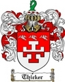 Thumbnail Thicker Family Crest  Thicker Coat of Arms