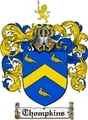 Thumbnail Thompkins Family Crest  Thompkins Coat of Arms
