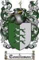 Thumbnail Tomlinson Family Crest  Tomlinson Coat of Arms