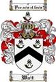 Thumbnail Wait Family Crest  Wait Coat of Arms