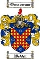 Thumbnail Weddell Family Crest  Weddell Coat of Arms