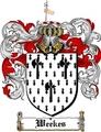 Thumbnail Weekes Family Crest  Weekes Coat of Arms