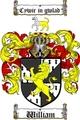 Thumbnail William Family Crest  William Coat of Arms
