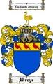 Thumbnail Wreye Family Crest  Wreye Coat of Arms