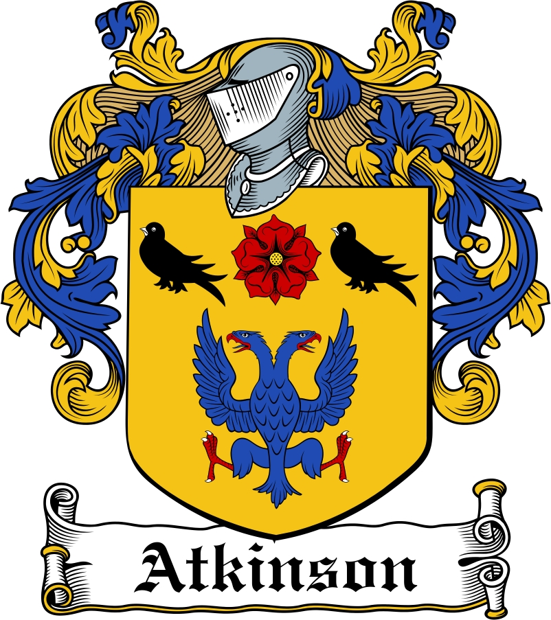 Atkinson Family Crest Irish Coat Of Arms Image Download Downloa