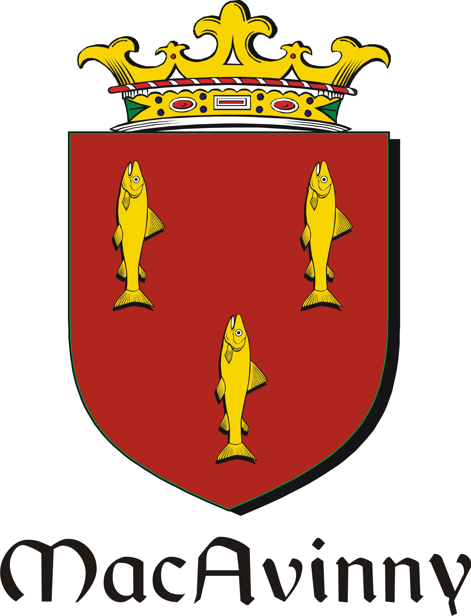 Pay for Avinny-Mac Family Crest / Irish Coat of Arms Image Download