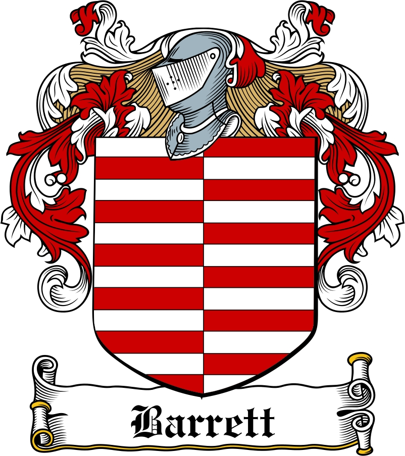 Barrett Family Crest Irish Coat Of Arms Image Download Download