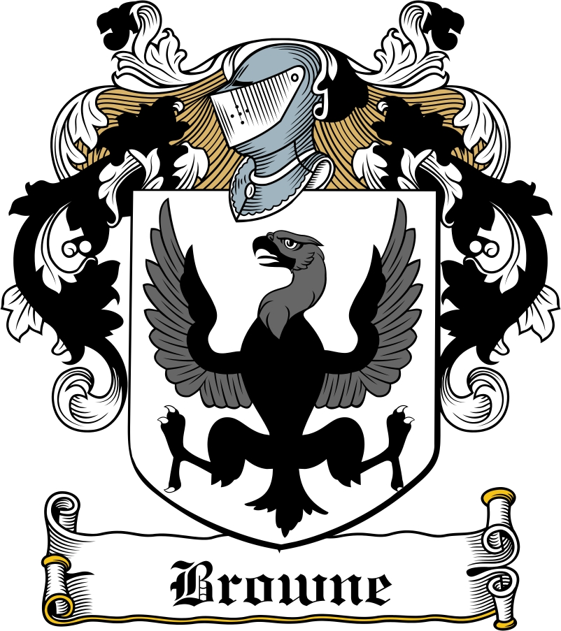 browne family crest    irish coat of arms image download