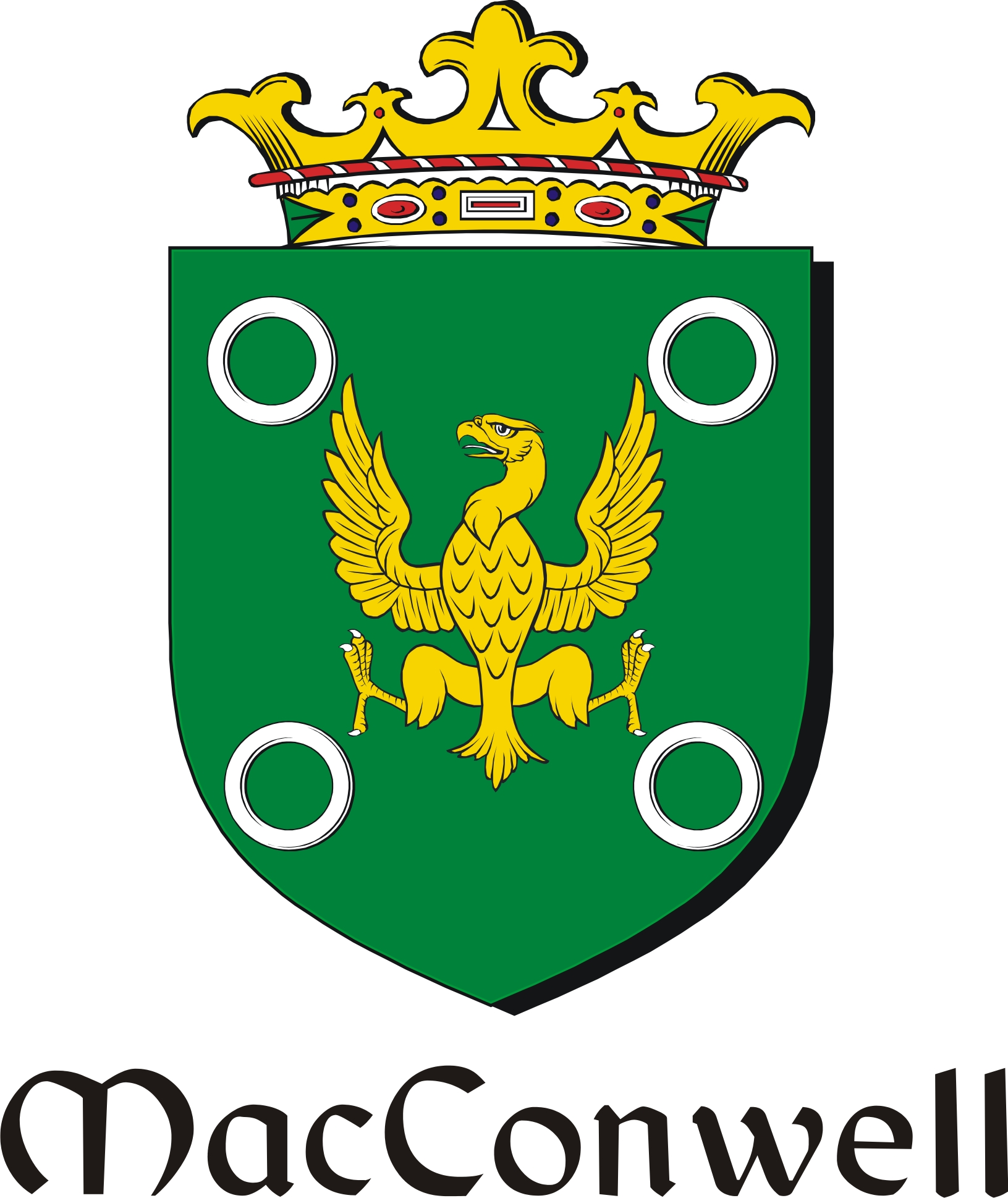 Pay for Conwell-Mac Family Crest / Irish Coat of Arms Image Download