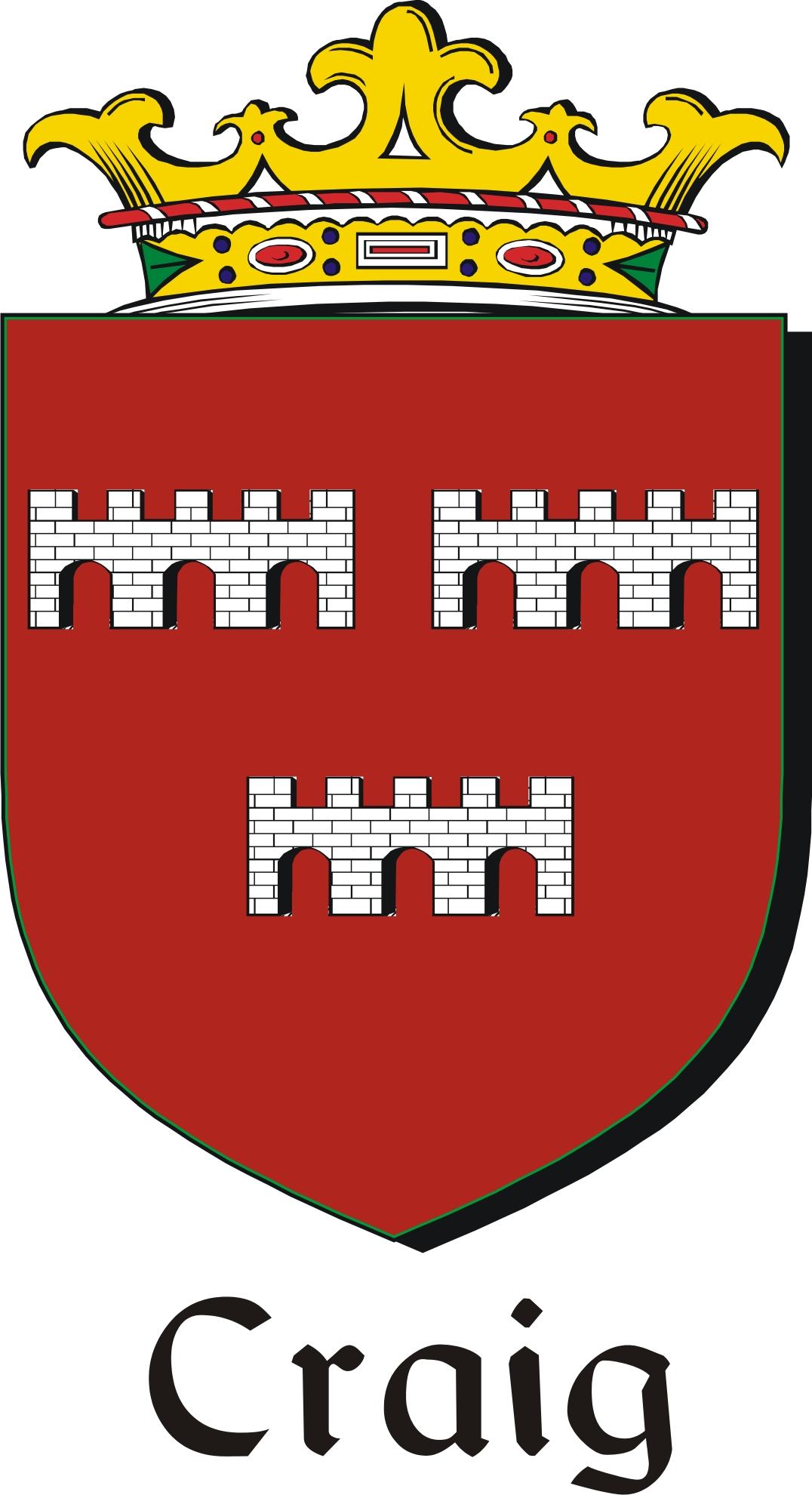 craig family crest    irish coat of arms image download