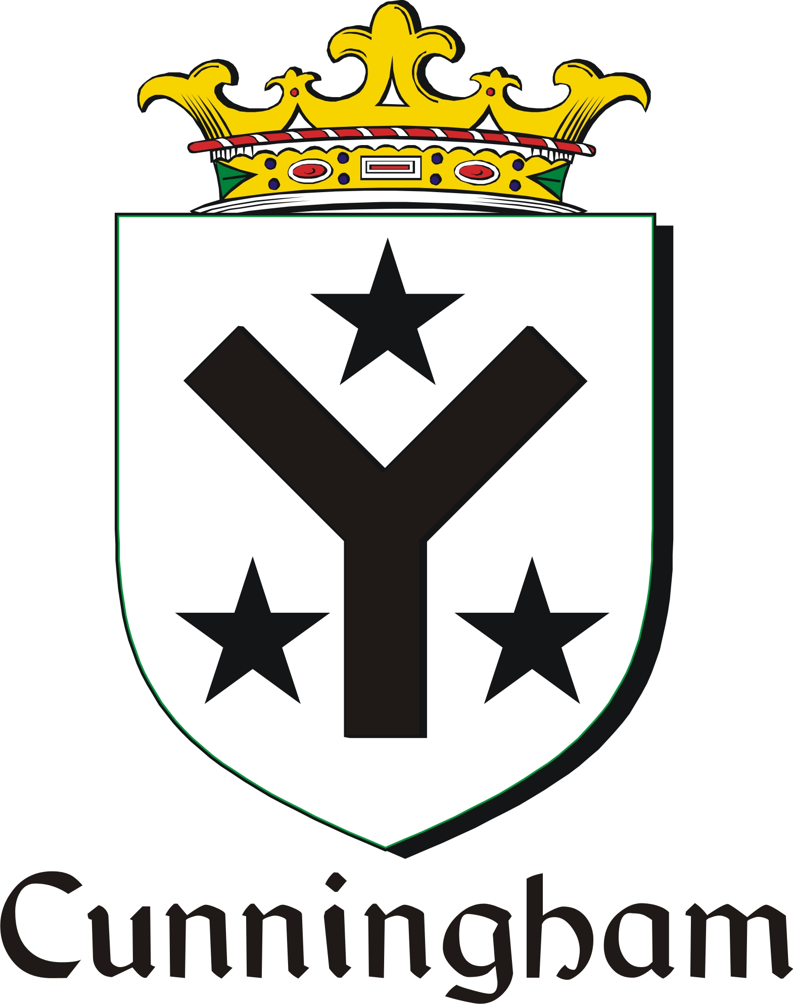 Pay for Cunningham Family Crest / Irish Coat of Arms Image Download