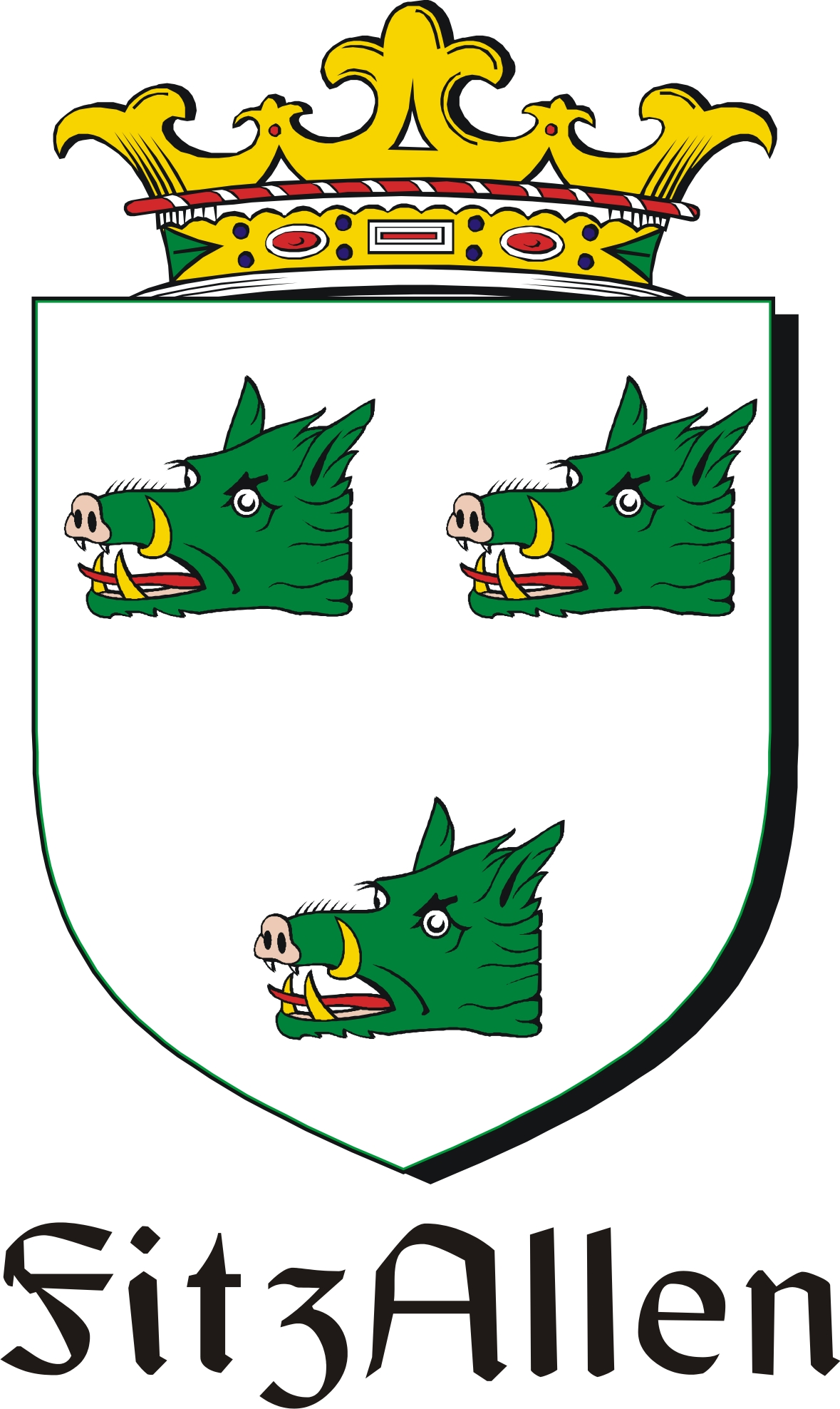 Pay for FitzAllen Family Crest / Irish Coat of Arms Image Download